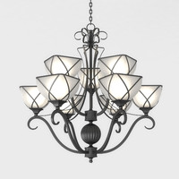 iron chandelier 3d max