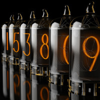3d model of chronotronix v400 nixie clock