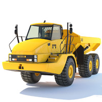 3d articulated dump truck