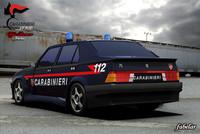 3d alfa romeo 75 carabinieri model
