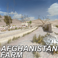 3d model house farm afghanistan