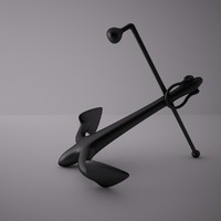 3d anchor navy model