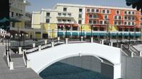 3d max qatar pearl pedestrian bridge