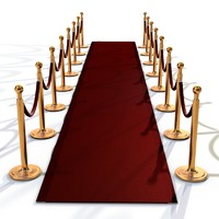 maya realistic dividers red carpet