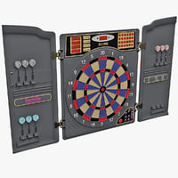 3d model electronic dartboard v2