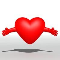 3d model heart arm