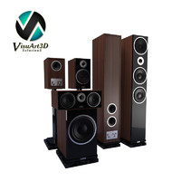 3d model speakers heco metas set