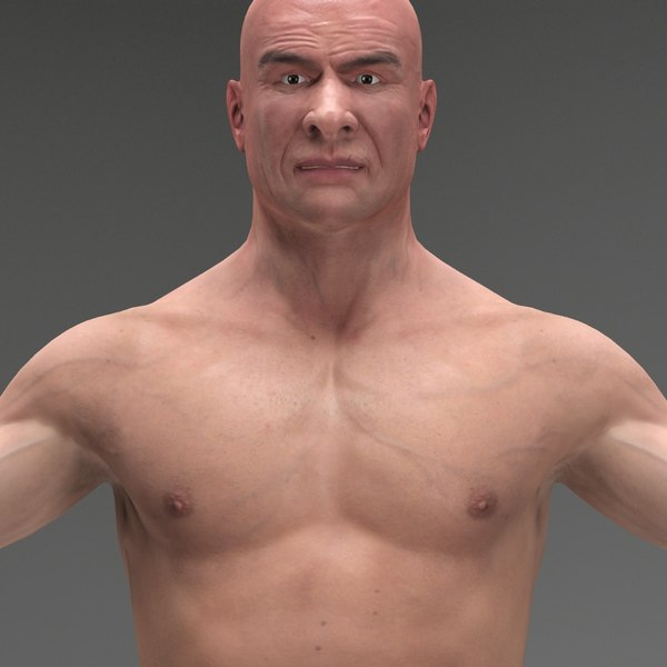man human body character 3d max - Man Jeff, European, White R2... by CG ARTStudio