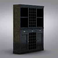 Pottery Barn - Mason Media Armoire - Modular Bar System with 1 Wine Hutch & 2 Open Hutch