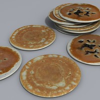 3dsmax breakfast pancake coz120410