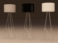 flos f1 floor lamp 3d 3ds