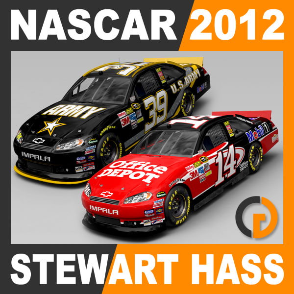 Nascar 2012 Pack - Stewart Haas Racing Team Cars