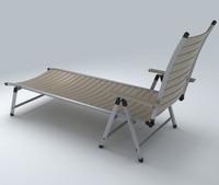 3d deckchair exterior
