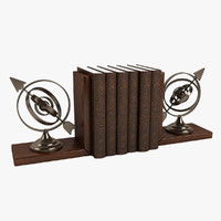 Armillary Bookends