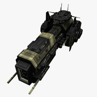 3d ship destroyer battleship model