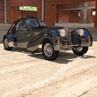 bugatti atlantic 3d model