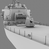 3d model of navy battleship gravely
