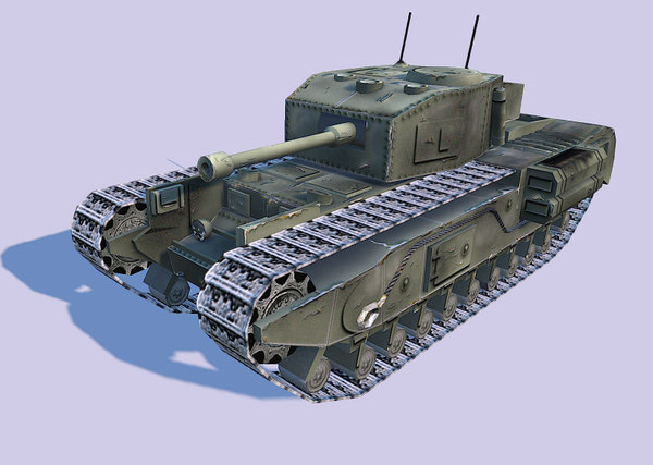 nextgen churchil tank 3d model - Churchil tank... by potyek
