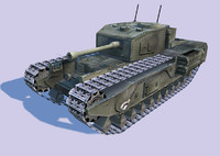 nextgen churchil tank 3d model