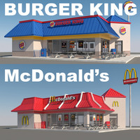 3d fast food restaurants mcdonalds