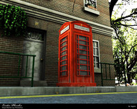 3ds max london phone box