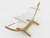 Wooden hammock outdoor furniture