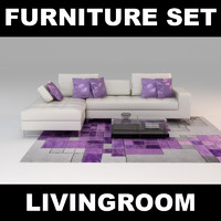 furniture set 3d max