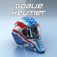 3ds ice hockey goalie helmet