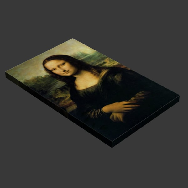 painting mona lisa canvas max free - Mona Lisa Painting on Canvas... by 1Dollar3DModels