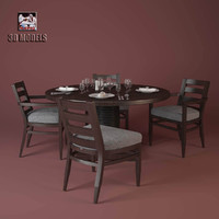 table mood chair 3d max