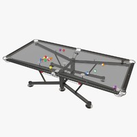 glass pool table 3d model