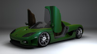 koenigsegg convertable 3d model