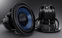 3d model bass speaker