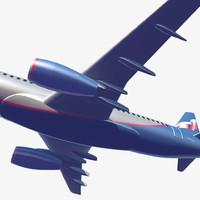 airliner sukhoi 3d model