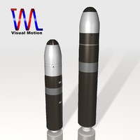 missile set navy trident 3d 3ds