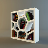 3d cabinet books model