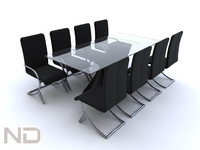 table meeting 3d model