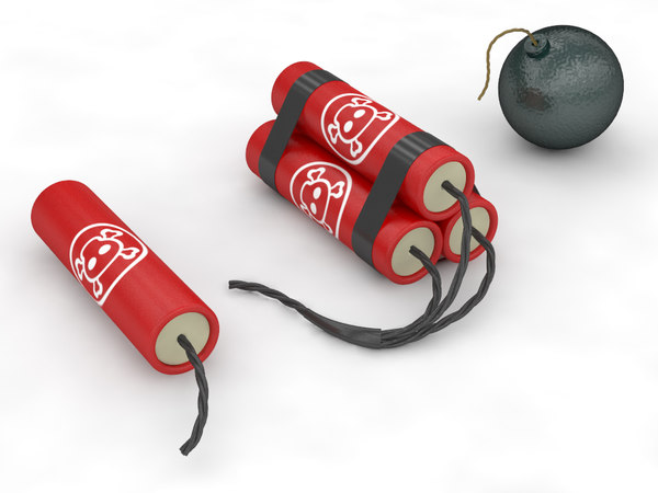 modelled dynamite 3d max - Bombs... by piren