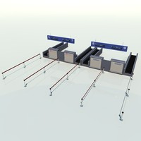airport counter 3d model