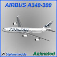 3dsmax airbus a340-300