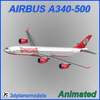 3d airbus a340-500