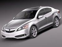 3d model acura ilx 2013 sedan