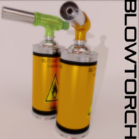 3d blowtorch scene