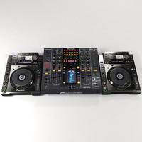 pioneer djm2000 mixer cdj2000 3d 3ds