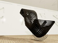 3d architectural chair model