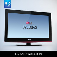 3d model of lg 32ld340 lcd tv