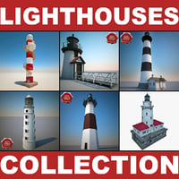 lightwave lighthouses modelled