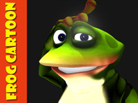 frog cartoon character 3d max