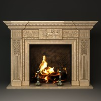 fireplace pompeya 3d model