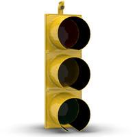 3d stop light model